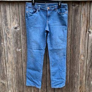 Loft Modern Straight Denim Jeans l Size 12/31